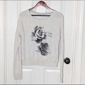 Abercrombie Gray Sweatshirt w/Rose Print Sz M